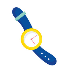 wrist watch time accessory fashion icon vector image