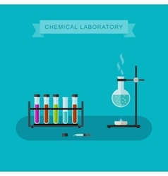 Chemical laboratory banner vector image