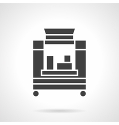 Coffee trailer glyph style icon vector image