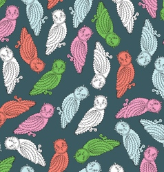 Colorful Owls Endless Seamless Pattern vector image vector image