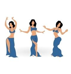 Girls belly dancing vector image