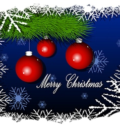Merry Cristmas background vector image vector image
