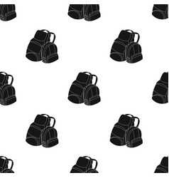 pair of travel backpacks icon in black style vector image vector image