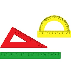 Rulers set vector image