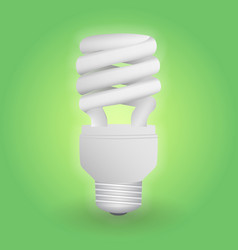 economical fluorescent light bulb save energy vector image
