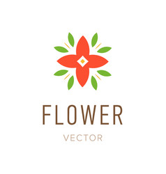flower abstract logo design template style floral vector image