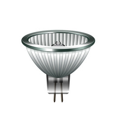 halogen light bulb isolated on white vector image