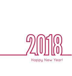 Happy new year 2018 theme vector