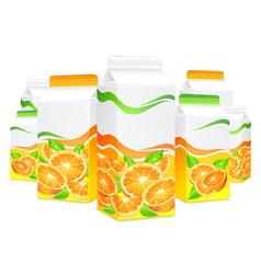 packing lot orange juice vector image vector image
