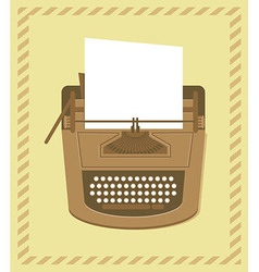 typewriter in retro style - card vector image