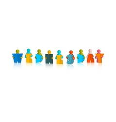 Wednesday Colorful Title - Paper Cut People and vector image vector image