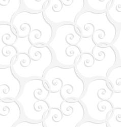 3D white swirls grid vector image vector image