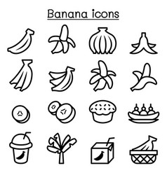 Banana icons vector