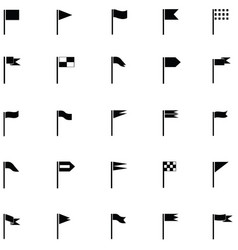 flag icon set vector image vector image