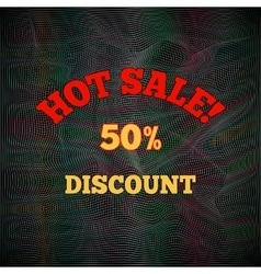 Hot sale poster pattern Text letters on black vector image vector image