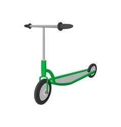 Kick scooter cartoon icon vector image vector image