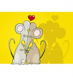 mice in love vector image vector image