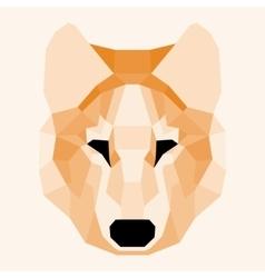 Orange low poly wolf vector