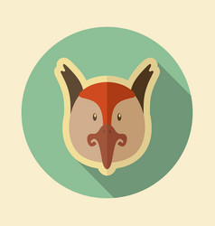 pheasant flat icon animal head vector image