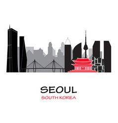 seoul south korea skyline vector image