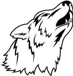 wolf head tattoo vector image