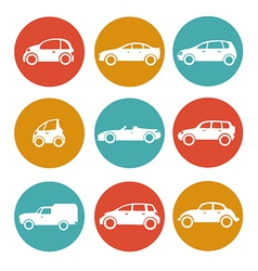 Cars in circles vector image