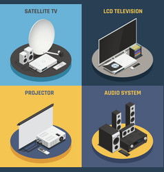 home theater 2x2 set vector image vector image