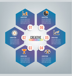 infographics 6 options template for vector image