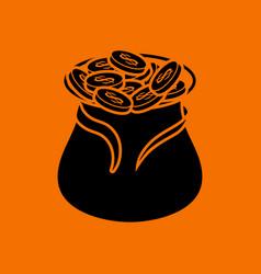 open money bag icon vector image vector image