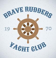 Rudder retro design icon vector image