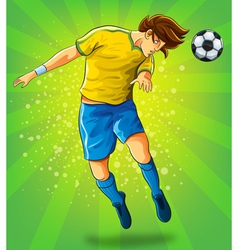 Soccer Player Head Shooting a Ball vector image