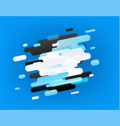 abstract composition different color clouds vector image