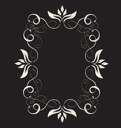 Abstract romantic floral frame vector