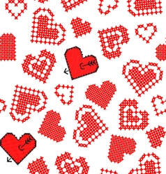Abstract texture of hearts vector