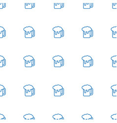 Beer mug icon pattern seamless white background vector