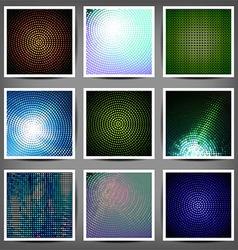 big set color technical backgrounds vector image