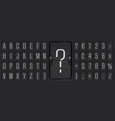 Black terminal scoreboard narrow font to display vector