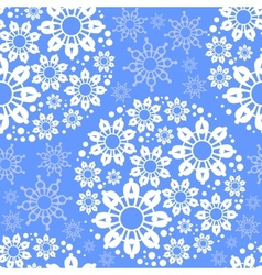 Blue seamless pattern with snowflakes vector image