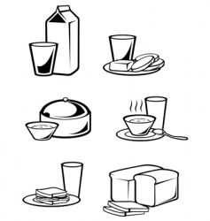 Breakfast symbols vector