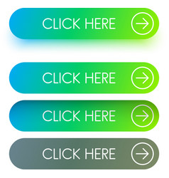 bright green click here buttons isolated on white vector image