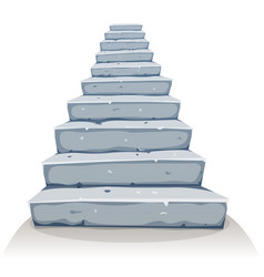 Cartoon stone stairs vector