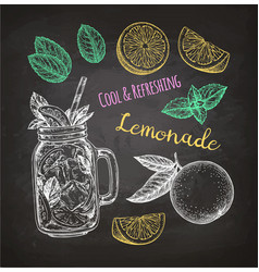 Chalk sketch lemonade vector