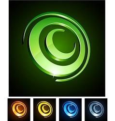 Circle vibrant emblems vector