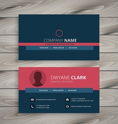 clean modern corporate business card vector image
