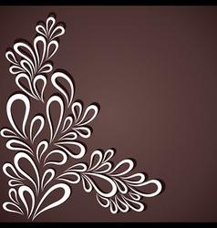 creative white flora in dark background vector image