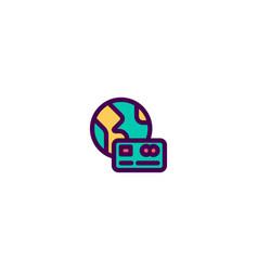credit card icon design e-commerce icon design vector image