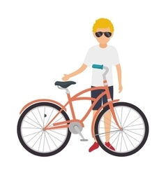cycling on the beach vector image