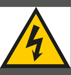 danger electrical hazard triangle black and vector image