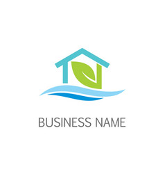eco house nature logo vector image