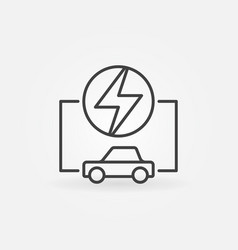electric car linear concept icon vector image